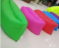 Wholesale Big Living Room Bean Bags - 2017 DHL Lounge Sleep Bag Lazy Inflatable Beanbag Sofa Chair, Living Room Bean Bag Cushion, Outdoor Self Inflated Beanbag Furniture DHL free