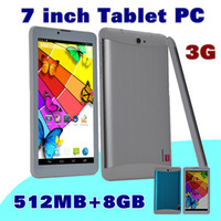 "Wholesale Tablet Sim 8gb - 5X DHL 7 inch 7"" 3G Phablet Android 4.4 MTK6572 Dual Core 8GB 512MB Dual SIM GPS Phone Call WIFI Tablet PC Bluetooth B-7PB"