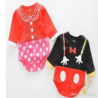 Wholesale Mikey Mouse Baby - Baby Romper Summer Cartoon Mikey Mouse Donala Duck Romper Outfits Jumpsuit Baby Girl Jumpsuit Toddler Infant Outwear Bodysuit
