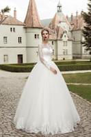 Wholesale Unique Designer Wedding Gowns - Unique Designer Long Sleeves Wedding Dresses Floor Length Ball Gown Vintage Wedding Gown Custom Size Color