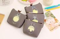 Wholesale one shoulder woven bag - Cartoon Miyazaki Totoro purse PU waterproof cute coin purse party Kids purse bag children wallet headset bags