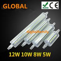 Wholesale R7s 78 - Waterproof R7S LED Lamp 78 118 135 189mm 5W 10W 12W 15W SMD2835 36led-144led Light Bulb floodlight 90-260V spot light