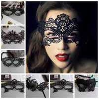 ingrosso props sexy di halloween-Mascara Halloween Puntelli Sexy Lace Party Masquerade Masks Costume veneziano Multi Pattern Black Lace Masquerade Masks