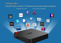 Android OTT TV-Box T95N Mini MX Amlogic S905X Quad-Core 6.0 OS 16.1 voll geladen Smart Streaming Media Player 1G + 8G TOP Qualität