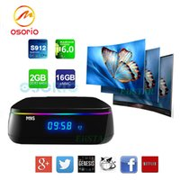 2017 M9S MIX 2 Go + 16 Go Amlogic S912 Smart Android TV TV Box 2.4G + 5G double wifi Box 1000M LAN numérique Android OTT TV Box