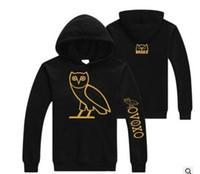 Wholesale Owl Warmer - Cotton plus fleece fashion sweater Owl sets of men and women Hoodie sweatshirts sport warm coats