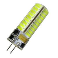 lâmpada led de 12v de pino venda por atacado-G4 Bi-Pin LED Lâmpada AC DC 12V-24V 5W 500LM 72-5730 SMD Lustre de silicone Leitura Luz de cristal Lâmpada Droplight Branco / Quente (Conjunto de 10)
