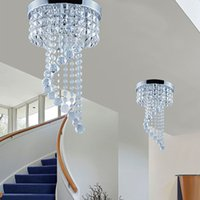 Wholesale Lamp Modern Cottage - 20 25cm Crystal Chandelier Ceiling Lighting crystal ball chandelier Flush Mount Ceiling Light Lamp for Aisle Stair Hallway Porch Lights