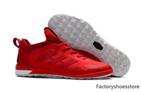 Wholesale Best Indoor Soccer Shoes - 2017 New Arrival Best Quality Soccer Shoes ACE Tango 17+ Purecontrol TF Low Ankle Football Boots Youth Mens Indoor Soccer Sneaker