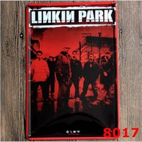 Wholesale Decorate Paintings - 2016 LinKin Park Metal Painting Western Heavy Metal Tin Sign Retro Poster Ktv Bar House Decorate 20*30cm