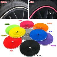protetores de roda de carro venda por atacado-Atacado-8M / Lote Novo Car Styling Auto Acessórios Car Wheel Rim Roda Anel Tyre WheelProtector Moda e Beleza Roda Rims Protector