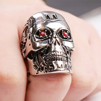 Wholesale Century Free - Skull RingThe Century Terminator Metal Skull Ring Ring for Christmas Gifts fashion skull ring free shipping
