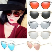 Wholesale Mix Deck - 20pcs 2017 New Fashion Summer Eye Sunglasses for Women Double-Deck Twin Beam Sun Glasses Lady's Vacation Holiday Beach Sunglasses ZL3050