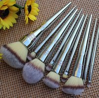 Wholesale Fan Set - Ulta brushes set Makeup Brushes 9 pcs Ulta it cosmetics foundation powder fan make up kabuki brush tools free ship