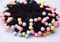 Wholesale Elastic Plastic Rope - New Fashion Smiling Face Headwear Women Hair Accessories Black Elastic Hair Bands Girls Headwear Hair Rope Jewelry Gum Rubber Ornaments