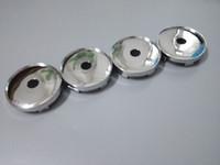cubo de roda universal venda por atacado-O cromo universal / os tampões de cubo vazios pretos 60mm do centro de roda / 2 3/8