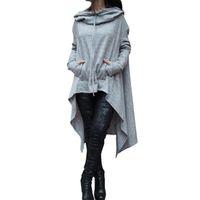 Wholesale warm tracksuits for women for sale – custom New Irregular Hoodies Tracksuit For Women Pullovers Hoody Sweatshirts Warm Moleton Feminino Winter Coat Camisolas drop shipping