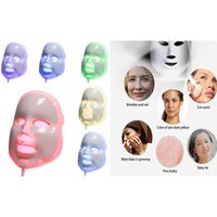ingrosso maschera di bellezza per il viso-ULTIMI LED Photon Therapy 7 Colours Light Treatment Facial Bellezza Cura della pelle Ringiovanimento Pototerapia Maschera PDT Beauty Face Care for Home