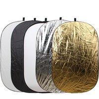 "Wholesale Pro Discs - Wholesale- 90x120 cm (35""x47"") PRO 5-in-1 Portable Foldable Studio Photo Collapsible Multi-Disc Light Photographic Lighting Reflector"