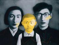 malen zhang großhandel-Freies Verschiffen, Lots Wholesale, z057 #, Handwerks-Kunst-Ölgemälde-Portrait durch Zhang Xiaogang, irgendeine kundengebundene Größe angenommen