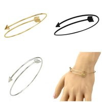 Wholesale Wholesale Arrows Cheap - Fashion jewelry Arrow bracelets cuff bracelet simple alloy opening bangle bangles trendy jewelry for women wholesale cheap