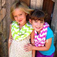 Wholesale Knit Chevron Scarves Wholesale - Wholesale- Fashion women and teens soft cotton scarf Girls cotton Chevron Infinity Scarves,Toddler Zig Zag Knit Scarf