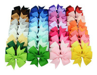 Wholesale Hair Design - 40 Colors Choos Cute Design Hair Bows Hair Pin for Kids Girls Children Baby Barrettes