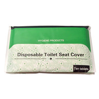 Wholesale Eco Bio - Eco-friendly Bio-degradable Water Solubility Disposable Toilet Paper Seat Cover for Hotel and Trvel 10sheets PCS*30