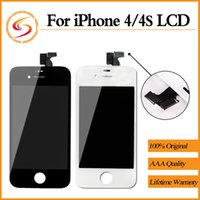 Wholesale Iphone 4s Front Replacement - LCD Display Screen Panels for Iphone 4 4S Front LCD Display Touch Screen Digitizer Replacement Repair Part for Iphone DHL