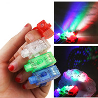 Wholesale newest toy led - 2017 NEWEST Lighting finger LED light laser finger beam finger ring laser lights 4 colors with good opp bag