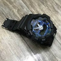 Wholesale Alarm Watch Water - Popular 2017 Men's fashion watch Military G Digital Sports Wristwatch For Men Boy Student Alarm Clock Army Stock LED Analog Watch relojes