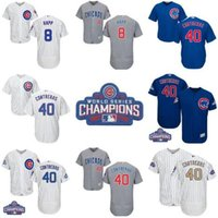 Wholesale Chicago Cubs Lan Happ Willson Contreras With World Series Champions Patch White Blue Gray Mens Top Stitched Baseball Jerseys Sale