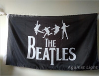 Wholesale Beatles Posters - The Beatles Poster Flag 90 x 150 cm Polyester British United Kingdom UK Music Rock Band Fabric Banner