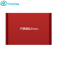 Wholesale Dual Tuner Media Player - YiSailing T95U PRO Android 6.0 4K Smart TV Box Amlogic S912 Octa core Support Dual band WiFi VP9 H.265 UHD 4K Media Player RAM 2GB ROM 16GB