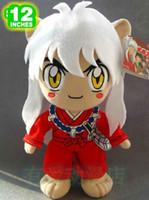 Wholesale Inuyasha Anime - New arrival Inuyasha figure 30cm anime Kagome plush toy cute doll