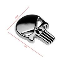 Wholesale skull sticker film online - Halloween Gift D Skull Car Sticker Metal Ghost for Harley Davidson motorcycle Auto Moto nbsp Sticker Car Styling for KIA Chevrolet