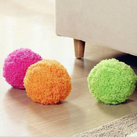 Wholesale mop ball - New Fashion Household Mop Ball Multi Colors Mini Quick Automatic Rolling Cleaning Robot Plush Pet Vacuum Cleaner Toy 25yt C RY