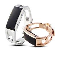 pulseira elegante d8 venda por atacado-Pulseira Bluetooth D8 Completa de Aço Inteligente Pulseira de Sincronização Do Telefone LEVOU Relógio Digital Com Vibrar Pode Atender o Telefone Para Smartwatch