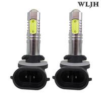 Wholesale Led Daytime Hyundai - WLJH Car Led 7.5W 12V 24V Cob Chip 881 H27 Fog Light Daytime Running DRL Lamp For KIA Sorento Hyundai