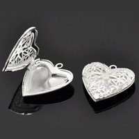 Wholesale picture lockets - DoreenBeads Silver Plated Heart Shape Picture Photo Frame Locket Pendants 26x26mm(Fit 18.7x13.7mm),sold per pack of 10