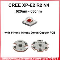 emissor led vermelho venda por atacado-Atacado - Emissor LED Cree XP-E2 R2 N4 620nm vermelho com 14 mm / 16 mm / 20 mm de cobre PCB (1 pc)