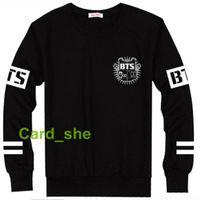 Wholesale Rap Hoodies - Wholesale-K-Pop BTS   Bangtan Boy J-hope V Jin Jimin Rap monster Tour Fans Sweatershirt hoodie pullover clothing Sweatershirts unisex New