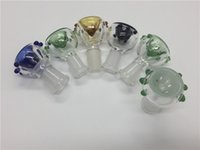 Barato Tigelas De Vidro Redondas Ao Atacado-Atacado 14mm 18mm Glass Bowl Feminino Feminino 14.4mm 18.8mm Tigelas De Vidro Com Honeycomb Screen Round Bowl Ash Catcher Glass Smoke Bong