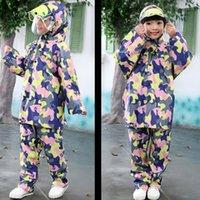 Wholesale Kids Pvc Raincoat - Children Raincoat Rainwear Sets Waterproof Kids Poncho Cute Girls Cloak Capa De Chuva Impermeable PVC Raincoat Clothes QQG288