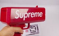 Wholesale Gift Toys Gun - 2017 Top Sale Cash Cannon Money Gun Decompression Fashion Toy Make It Rain Money Gun With Battery Christmas Gift Toys interesting toys 111