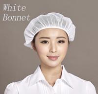 Wholesale Cap Network - 2017 Customized Logo Bonnet Work Network Hat White Food Workshop Worker Dustproof Health Hat Men And Women Chef Hat Working Cap