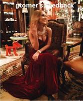veludo de veludo vermelho venda por atacado-2019 Novos Vestidos De Formatura Frete Grátis Sereia Querida Vinho Tinto Longo Borgonha Vestidos de Baile Vestidos de Noite Longo De Veludo Ajustado 295