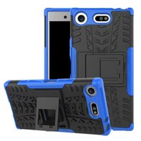 Wholesale Xperia Protective Cover - For Sony Xperia XZ1 Compact Case Hot Rugged Combo Hybrid Armor Bracket Impact Holster Protective Cover Case For Sony Xperia XZ1 Compact