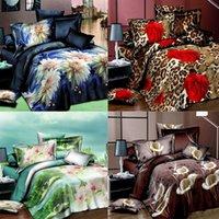 Wholesale King Bedding Set Microfiber - Wholesale- New 3D bedding sets Home Textiles 4Pcs bedclothes sets jogo de cama King size reactive print duvet cover  bed sheet  pillowcase