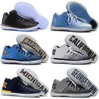 Wholesale 2017 Top Quality XXXI Low Black Cat Banned California Michigan George Sports Basketball Shoes for s Men s SHOES Size